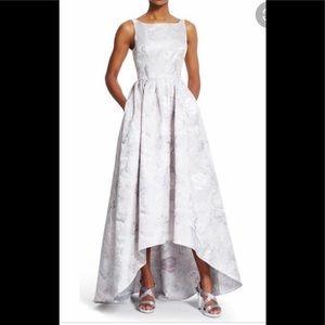 Adrianna Papell silver jacquard dress